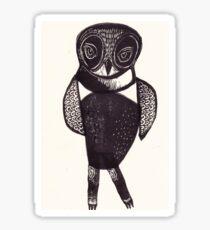 Sassy Owl funky folk art style bird with attitude Sticker
