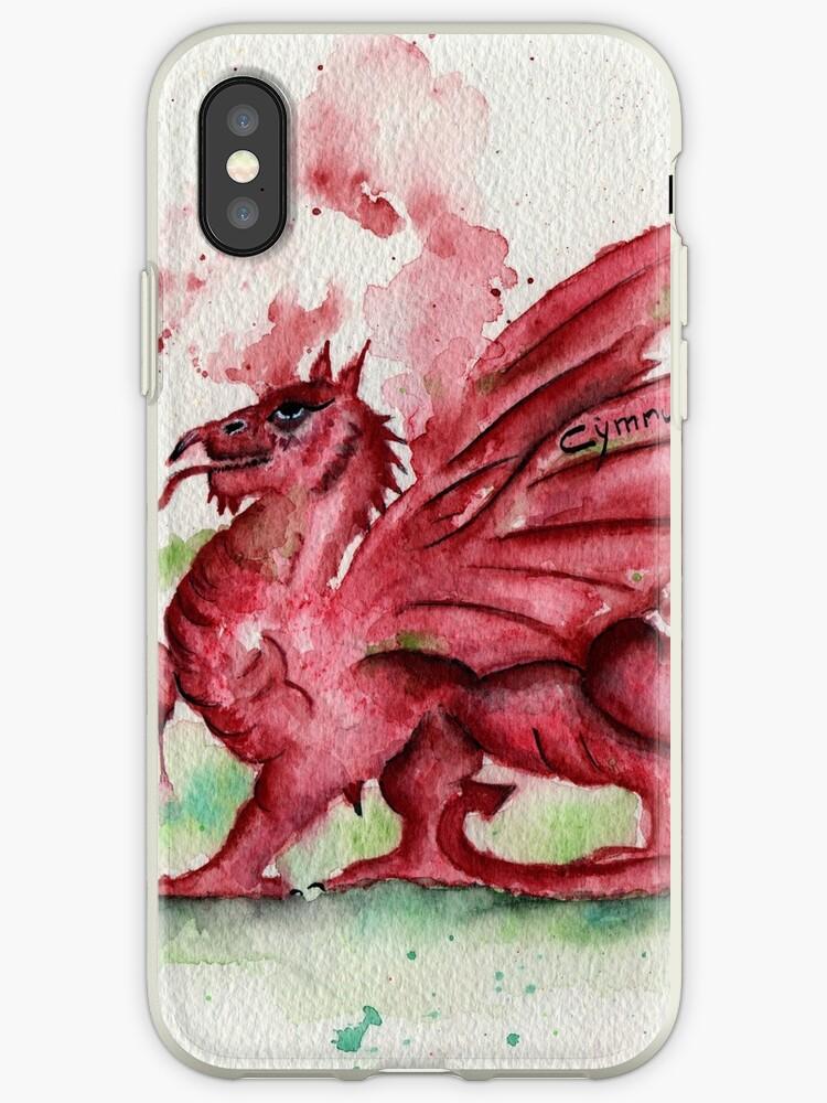 Welsh Dragon Watercolour by TRichardsonArt