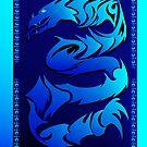 Sharp Blue Dragon  by Lotacats