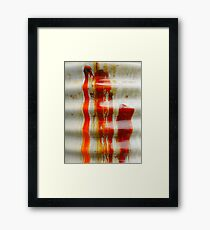 Aussie Corrugated Galvanised Iron Abstract #2 Framed Print