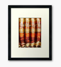 Aussie Corrugated Galvanised Iron Abstract #3 Framed Print