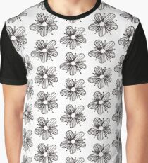 Small 5-petaled flower drawing Graphic T-Shirt