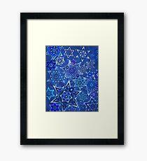 Star of David Hanukkah Night Sky 1 Framed Print