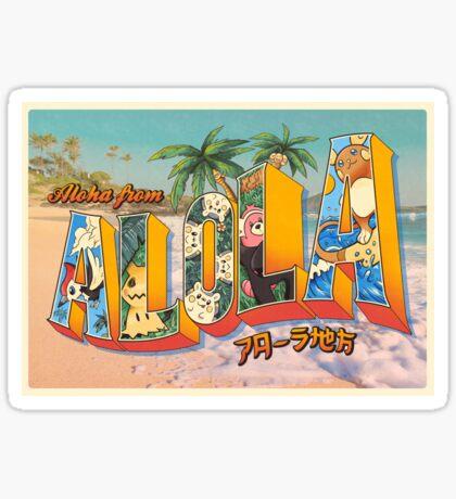 Aloha from Alola Sticker