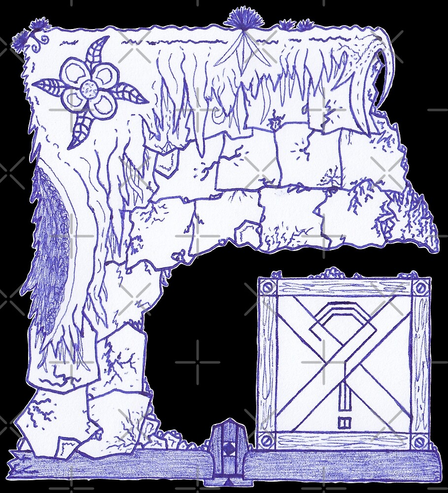 M.I. #29  ☽  Crate Beneath The Crumbling Cliff by Naean