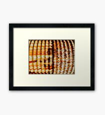 Aussie Corrugated Galvanised Iron Abstract #4 Framed Print