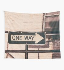 One Way Wall Tapestry