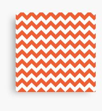 Orange retro Chevron pattern Canvas Print