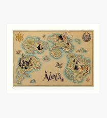 Alola Map Art Print