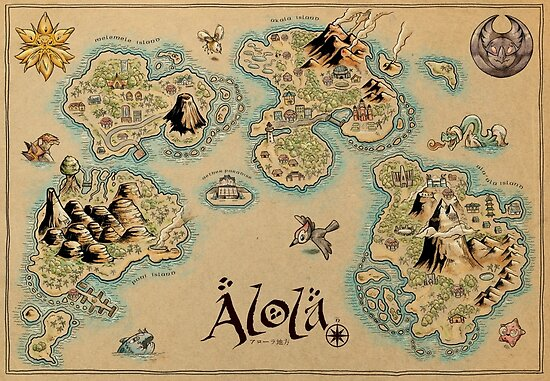 Quot Alola Map Quot Poster By Meleeninja Redbubble