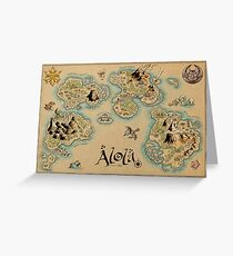 Alola Map Greeting Card