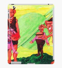 Giants Offer Food to Cows iPad Case/Skin