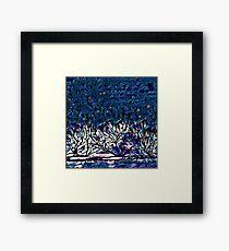 Starry Winter Night Framed Print