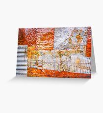 Aussie Corrugated Galvanised Iron #22 Greeting Card