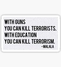 Malala Yousafzai is my hero. Sticker