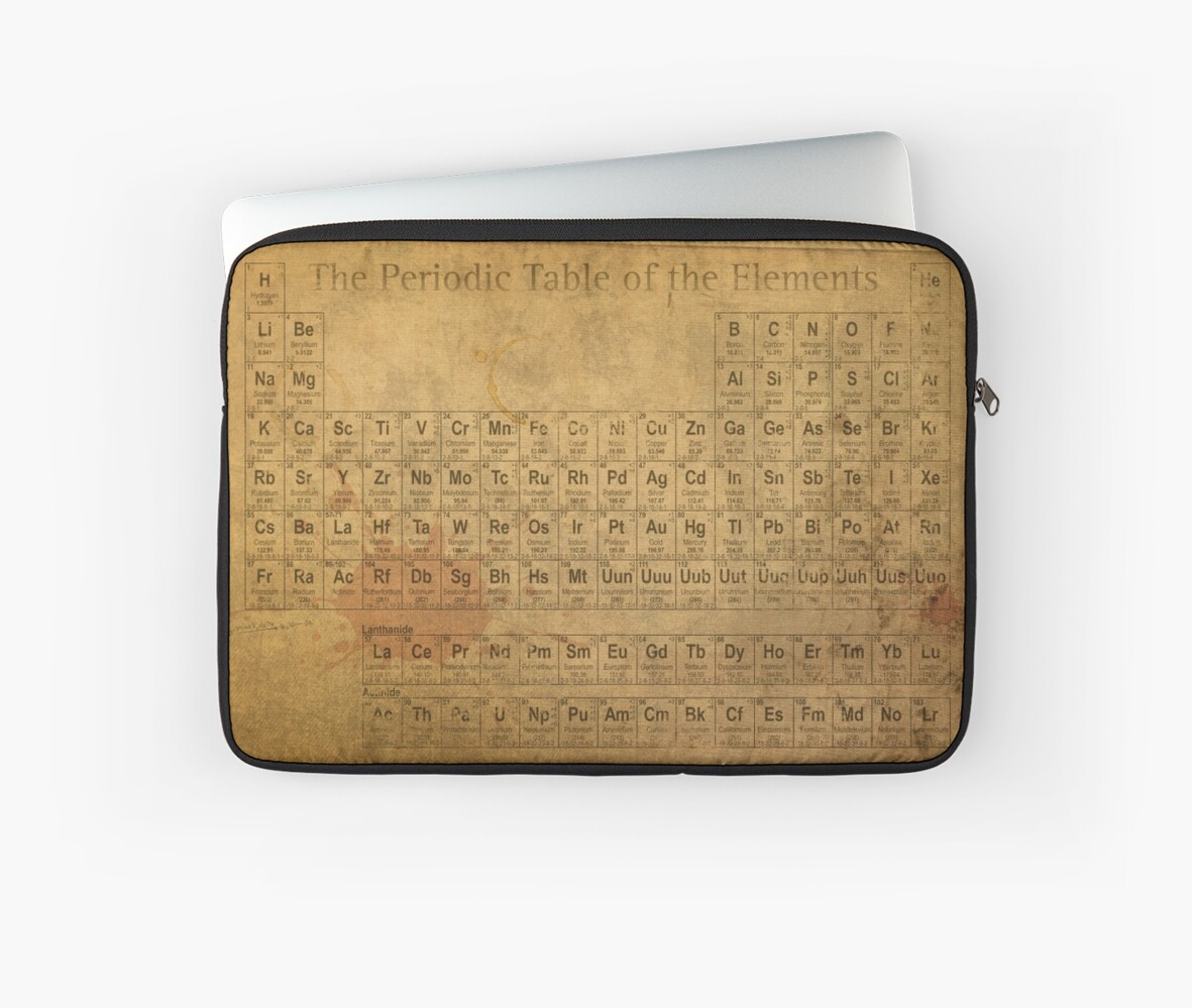 Periodic table of the elements vintage chart on worn stained periodic table of the elements vintage chart on worn stained distressed canvas by designturnpike urtaz Image collections