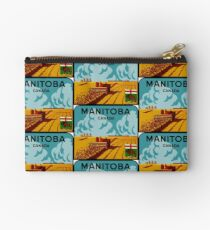 Manitoba Canada Vintage Travel Decal Studio Pouch