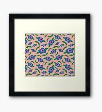 Floral Pattern   Peachy Rose Quartz Framed Print