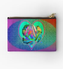 Glam rose with heart Studio Pouch