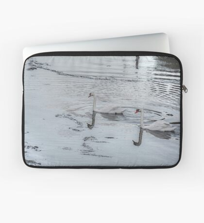 Swans In the Light! Laptop Sleeve