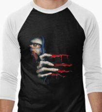 Capcom Resident Evil 2 Classic RARE Design. 100% Redrawn In Adobe Ilustrator Vector Format. Men's Baseball ¾ T-Shirt