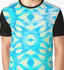 Zany Pattern Blue/Yellow Graphic T-Shirt