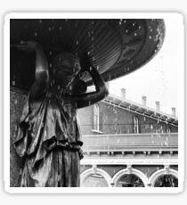 Skidmore Fountain - black & white Sticker