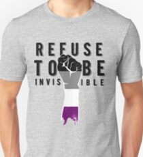 Refuse To Be Invisible Asexual Flag T-Shirt