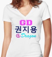 ♥♫Big Bang G-Dragon Cool K-Pop GD Clothes & Phone/iPad/Laptop/MackBook Cases/Skins & Bags & Home Decor & Stationary♪♥ Women's Fitted V-Neck T-Shirt