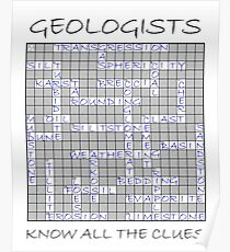 Geologists know all the clues - I (sedimentary words) Poster