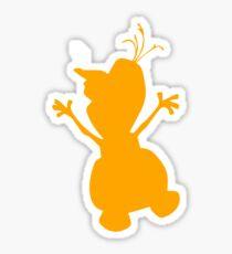 Olaf Silhouette Sticker