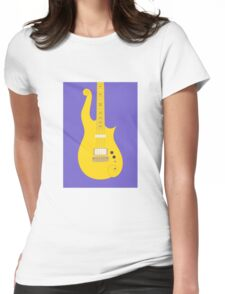 Prince Cloud Guitar (Yellow Purple) Womens Fitted T-Shirt