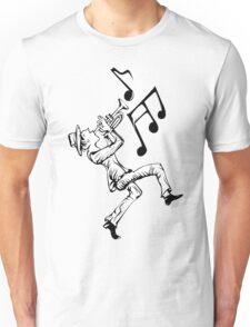 Pedestrian playing the trumpet Unisex T-Shirt