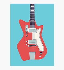 Jack White JB Hutto Montgomery Ward Airline Guitar (Blue) Photographic Print