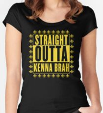 Straight Outta Kenna Brah Women's Fitted Scoop T-Shirt