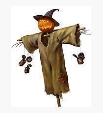 Halloween Scarecrow Photographic Print
