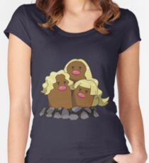Alolan Dugtrio Women's Fitted Scoop T-Shirt