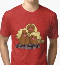 Alolan Dugtrio Tri-blend T-Shirt