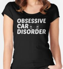Obsessive Car Disorder - OCD Just One More Car Women's Fitted Scoop T-Shirt