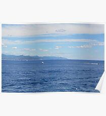 Beautiful natural landscape with the Ligurian Sea from Portofino. Poster