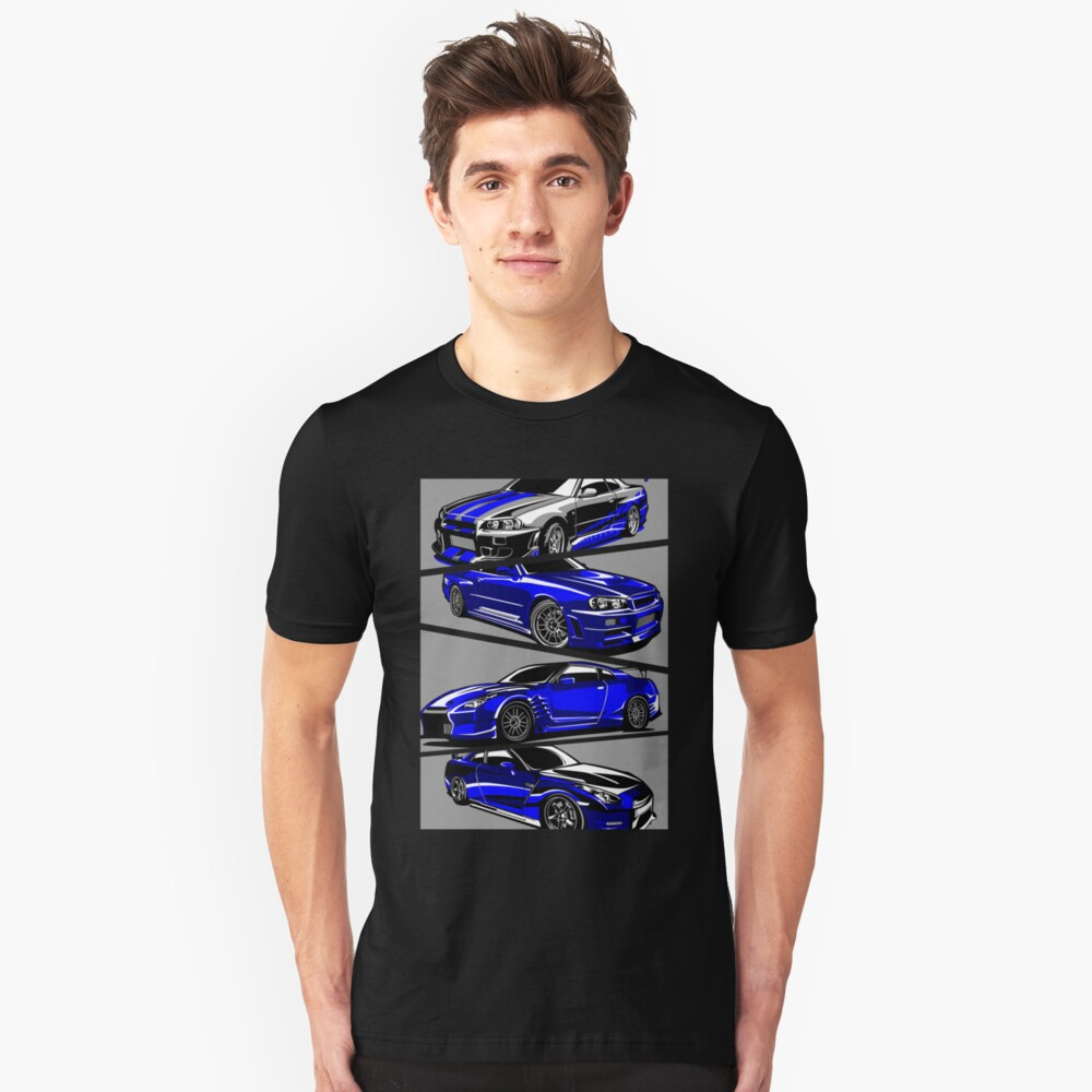 Paul Walker GTR Camiseta ajustada