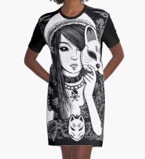 Elf Cat Graphic T-Shirt Dress