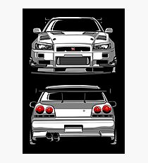 Lámina fotográfica Nissan GTR R34