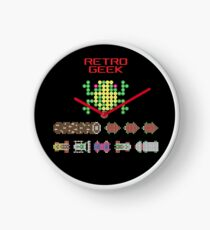 Retro Geek Frogger Screen Wall Clock - 3 Colours