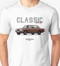 Mercedes-Benz E-klass (W123) (dark red) T-Shirt