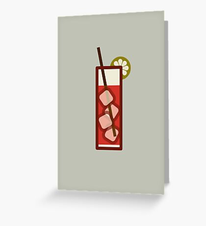 Mixed - Icon Prints: Drinks Series Greeting Card