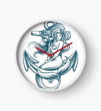 Mermaid on the Anchor Clock
