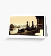 A Ship in Dock circa 1910 Greeting Card