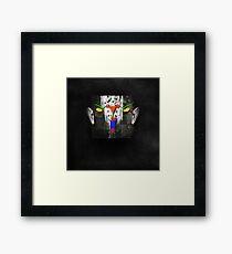 Portrait of a virtual mind. Todd Akin. Framed Print