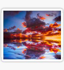 Abstract Sunset Sticker